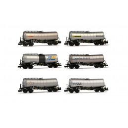 Coffret de 6 wagons citernes