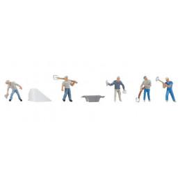 6 Ouvriers, Construction de...
