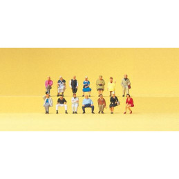 Passagers assis, 14 figurines