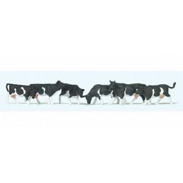 Vaches tachetées noires