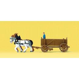 Chariot tiré par un cheval