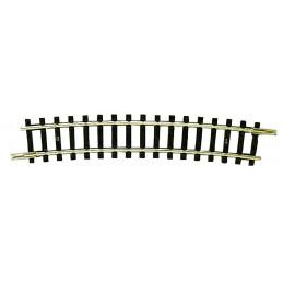 Rail courbe, R4, 15°