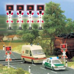 4 feux de signalisation...