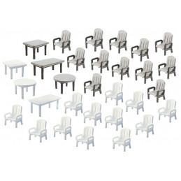 24 Chaises et 6 Tables de...